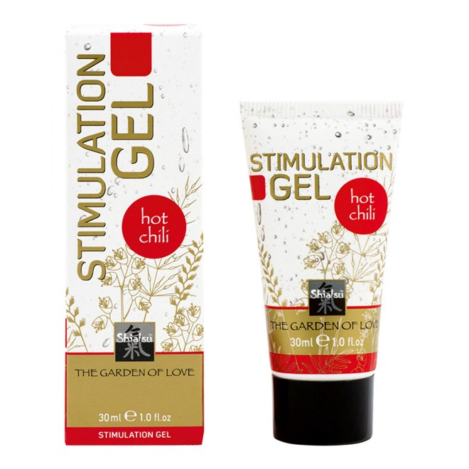 Shiatsu gel za stimulacijo Hot Chili, 30 ml
