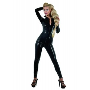Catsuit Latex, crni