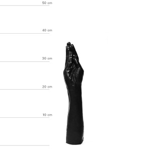 Dildo u obliku ruke All Black 39 cm