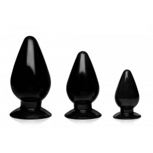 Triple Cones Anal Plug Set Of 3