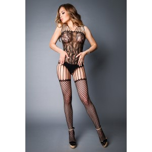 Lace Bodystocking With Stockings Design