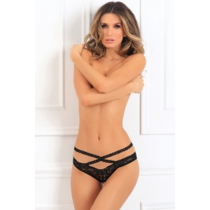 Crotchless lace string