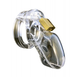 CB-3000 Chastity Cage - Transparent - 37 mm