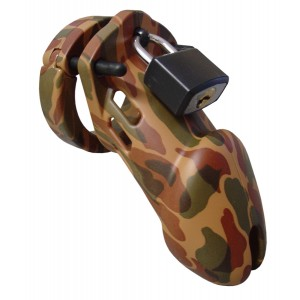CB-6000 Chastity Cage - Camouflage - 35 mm