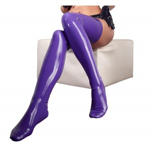 Latex Stockings purple