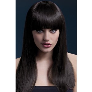 Fever Brown Long Wig With Fringe