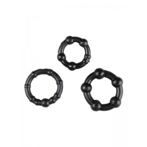 Black Performance Erection Rings - Packaged