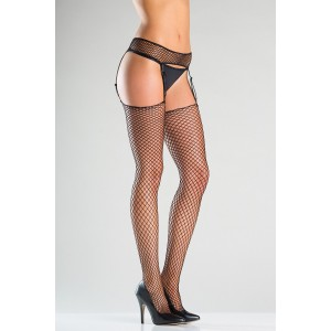 Fishnet Suspender Belt And Stockings With Adjustable Straps