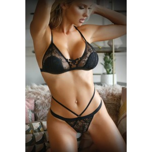 SWEET SPOT LACE UP BRA AND CAGE PANTIES