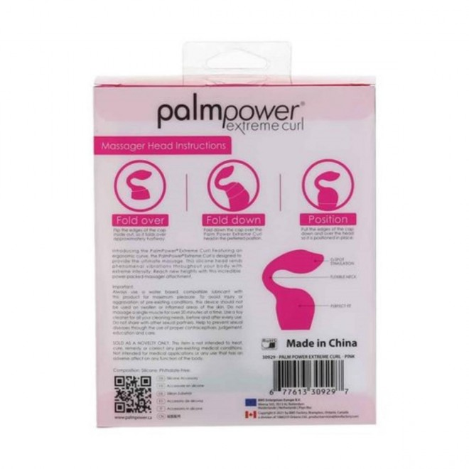 Palm Power - Extreme Curl Silicone Attachment - Pink