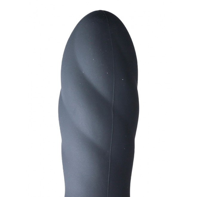 Inflatable Vibrating Silicone Twist - Black