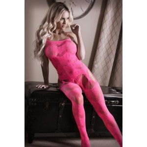 To The Moon Straps-Catsuit - Neonrosa